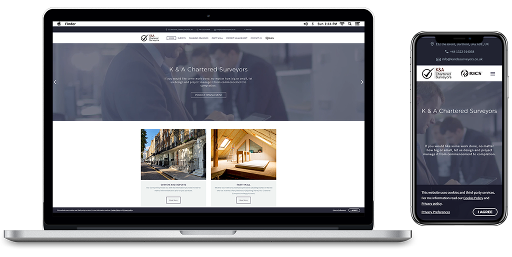 K & A Chartered Surveyors Website